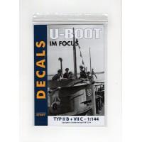 Decals U-Boot im Focus Typ II B + VII C in 1:144