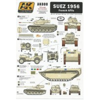Suez 1956 French AFVs Wet Transfers in 1:35